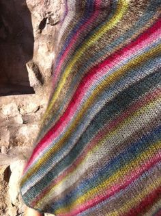 kaffe fassett knitting patterns | pattern: Earth Stripe Wrap by Kaffe Fassett