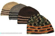 Popular free crochet beanie hat pattern for boys, men and women, from teens to adult, worked in Red Heart Super Saver yarn.