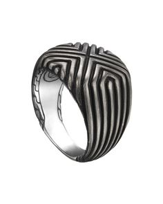 Bedeg+Silver+Triangle+Line+Square+Ring+by+John+Hardy+at+Neiman+Marcus.