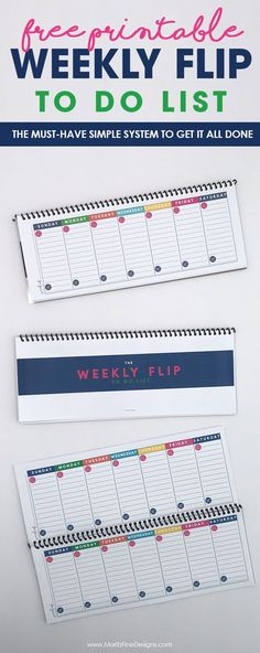 This is a must-have, simple printable weekly to-do list system to get it all done. This free system will help moms get their daily goals done and create a weekly menu plan.