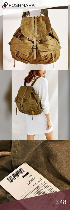 Urban Renewal vintage military backpack New with tags. Urban renewal from urban outfitters military backpack. Adjustable straps. Inside pocket and 2 outside pockets Urban Outfitters Bags Backpacks