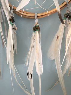 Love the feathers on our dream catcher