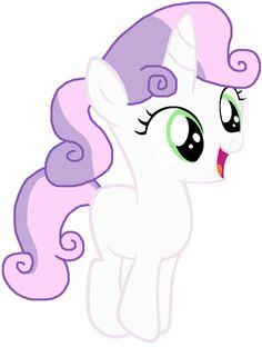 mlp sweetie belle ponytail - Google Search
