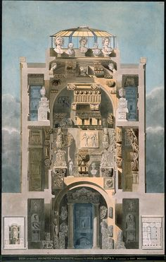 "inland-delta: "" George Bailey, Sir John Soane's Museum, London, c1811 """