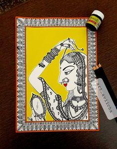 Madhubani Paintings Peacock, Madhubani Art, Mandala Art Therapy, Mandala Art Lesson, Pichwai Paintings, Indian Art Paintings, Kerala Mural Painting, Doodle Art Designs, Indian Folk Art