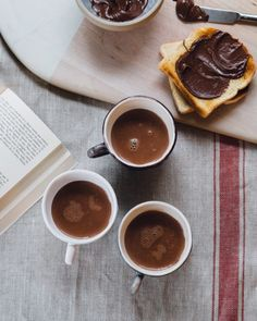 Nutella Hot Chocolate keeping me warm and toasty this Sunday. If you like Nutella (like everyone) you should def give this super easy 5 minute recipe a try🍫🌰 recipe up on Brooklyn kitchen