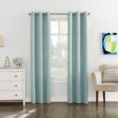 The Big One® 2-pack Brandon Curtains, Turquoise/Blue (Turq/Aqua)