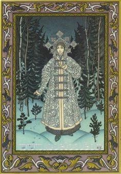 Ivan Bilibin, Woman in the Snow