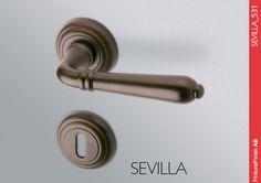 Klamka Sevilla Mandelli antyczny brąz - Ekskluzywne klamki do drzwi - Profesjonalne systemy zabezpieczeń Keso i Evva