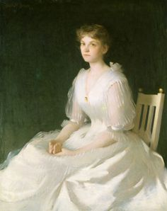 Portrait in White (1889), Frank Weston Benson, American, National Gallery of Art, USA