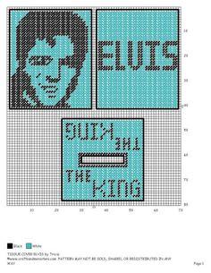 TISSUE COVER ELVIS   plastic canvas