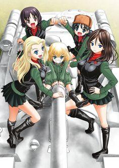 Girls und Panzer,Anime,Аниме,Katyusha,Nonna,nina (girls und panzer),clara (girls und panzer),alina (girls und panzer),taniguchi gou