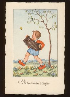 LILLY SCHERBAUER Junge mit Ziehharmonika |