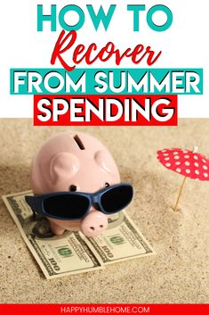 How to Recover from Summer Spending - These simple tips will get your family back on track this fall and increase your bank account without too much work. These easy ideas will set your family up for a successful school year! Best Money Saving Tips, Money Saving Challenge, Saving Money, Money Tips, Living On A Budget, Frugal Living Tips, Frugal Tips, Save Money On Groceries, Ways To Save Money