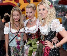 Sandy Meyer-Wölden, Gulia Siegel, Verena Kerth auf der 180. Wiesn (Munich Oktoberfest 2013)
