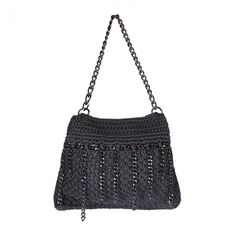 Ippolity Handbag, with chain details. Hobo Bag, Crochet Top, Handbags, Chain, Detail, Women, Fashion, Moda, Totes