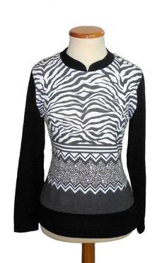 "Camiseta estampado ""Cebra"" Color Negro"