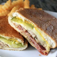 There's little agreement on what the exact ingredients of a Cuban sandwich are, but it's usually a mixture of sour dill pickles, yellow mustard and—of course—juicy, thinly sliced pork loin. The Cuban sandwich is practically a foodie legend! - Everyday Dishes & DIY