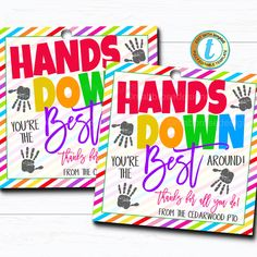Teacher Appreciation Week Discover Soap Gift Tags Hands Down Youre the Best Around Thank You Hand Sanitizer Gift Classroom School Teacher Staff Nurse DIY Editable Template Teacher Appreciation Week, Employee Appreciation, Teacher Gifts, Staff Gifts, Nurses Week Gifts, Volunteer Gifts, Student Gifts, Card Tags, Gift Tags