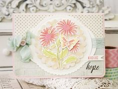 Never Lose Hope Card by Melissa Phillips for Papertrey Ink (April 2015)