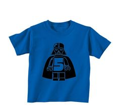 Birthday Number Darth Vader Star Wars Royal by SandboxClothing, $15.00. Can they make one that has the number 30 on it?