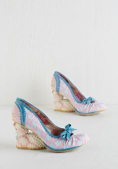 Because I'm Baa Heel. You know it - youre looking fiercely stylish in these distinctly designed pumps from Irregular Choice. #pink #modcloth