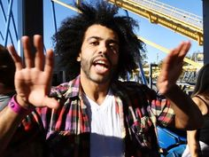 "On their day off, the cast and crew of ""Hamilton"", one of Broadway's hottest shows, spent the afternoon at Six Flags Great Adventure and sampled many of the park's thrill rides. Daveed Diggs who plays Thomas Jefferson, reacts after riding Nitro. Cast Of Hamilton, Hamilton Broadway, Hamilton Musical, Six Flags Great Adventure, Greatest Adventure, Daveed Diggs, Anthony Ramos, Theatre Nerds, Theater"