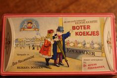 """Rare Vintage Dutch """"Boter Koekjes"""" Tin from Western Germany by Narrativehome on Etsy"""