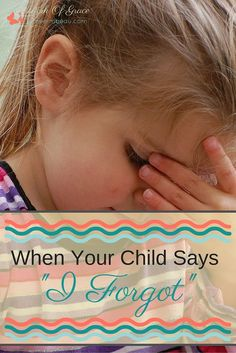 "Are you frustrated with the response ""I forgot"" when your kids have been asked to do something? Me too and here is how I have learned to manage the forgetful ones. For Christian parenting."