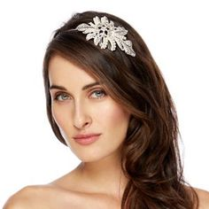Jon Richard Elizabeth peardrop crystal vintage style headband- at Debenhams Mobile