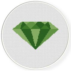 FREE for July 6th 2017 - Emerald Cross Stitch Pattern