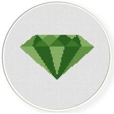 FREE for July 6th 2017 - Emerald Cross Stitch Pattern