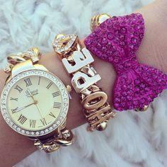 ♥ the purple bow bracelet