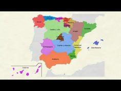 Aprender español: Comunidades autónomas de España (nivel básico) - YouTube Spanish Teacher, Spanish Class, Learning Spanish, Hispanic Culture, Social Science, Youtube, Videos, Reyes, Spain