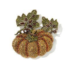 "Heidi Daus ""Precious Pumpkin"" Crystal Pin"