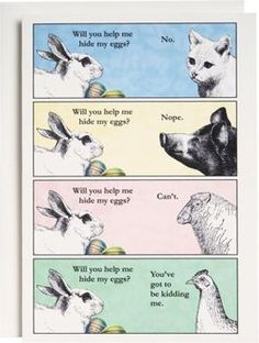 Easter Cards - Hide My Eggs Easter Card