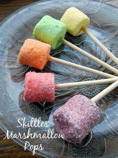 Skittles Marshmallow Pops