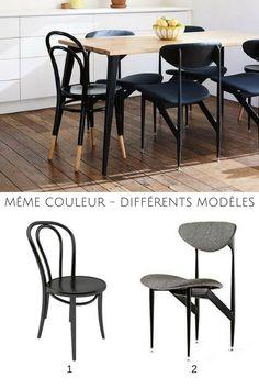 On adore les chaises dépareillées !  http://www.homelisty.com/chaises-depareillees/