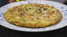 Aardappeltortilla met ui en paprika   Dagelijkse kost