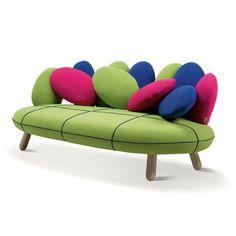 Adrenalina Divano Jelly 2 posti - Multicolor verde Lovepromo