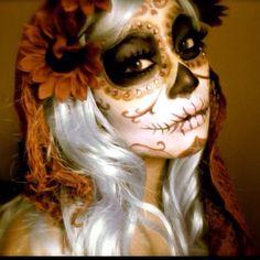 Pala Foxia's Sugar Skull make up
