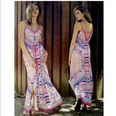 SOLD - BUNDLE for Karlie 1. The EDIZA print maxi dress - PINK size S 2. The BRILEY rainbow chevron maxi dress -VIBRANT size L Dresses Maxi