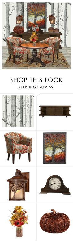 """Sylvan Beauty"" by kathleensmith-i ❤ liked on Polyvore featuring interior, interiors, interior design, home, home decor, interior decorating, Cole & Son, Crate and Barrel, Wildon Home and ELK Lighting"