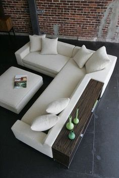 White sofa design - Shea Sectional with Console and Ottoman - modern - sectional sofas - los angeles - VIOSKI