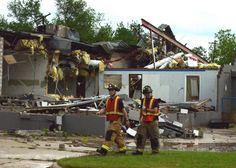 Tornado damage in Norman, Oklahoma: 4/13/2012