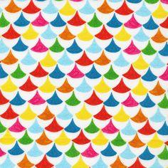 Folkaric Festive  Fabric by CuttingCloth on Etsy