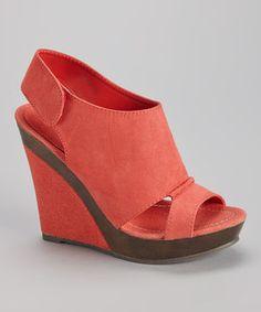 Look what I found on #zulily! Bucco Coral Sildia Wedge Sandal by Bucco #zulilyfinds