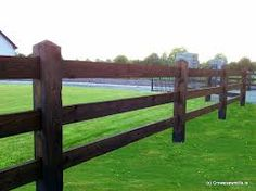 morticed post and rail fence - Google Search