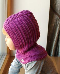 BEREIT-zu-Schiff Größe 6-12months, 1-3-6 Jahre! Merino Wolle Balaclava, Baby/Kleinkind Hoodie Hut, Orhid Purple Neckwarmer Hat.Costum Reihenfolge 6-10y.