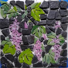 Red-flowering Currant mosaic by Joanne Daschel